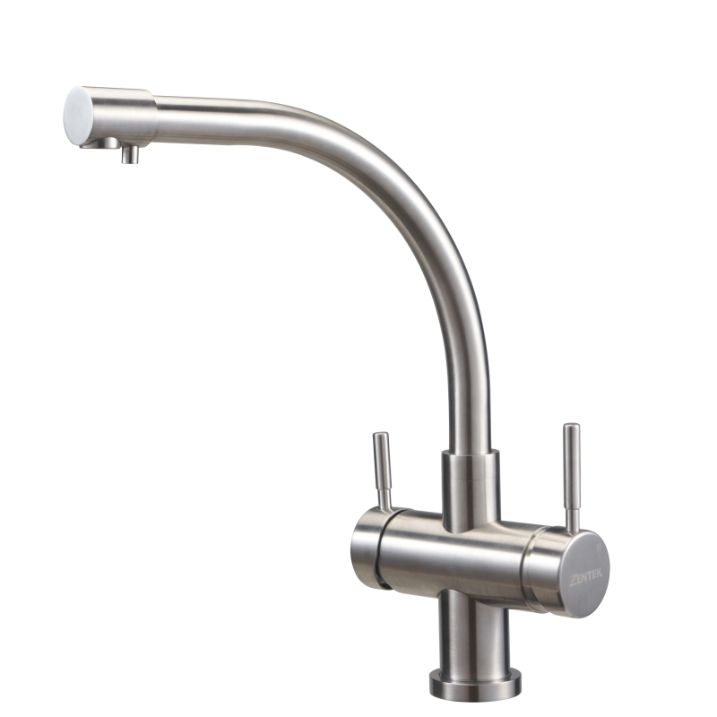 3-Way Stainless Steel Kitchen Faucet For  R.O. Water and  Hot and Cold Water KF2500